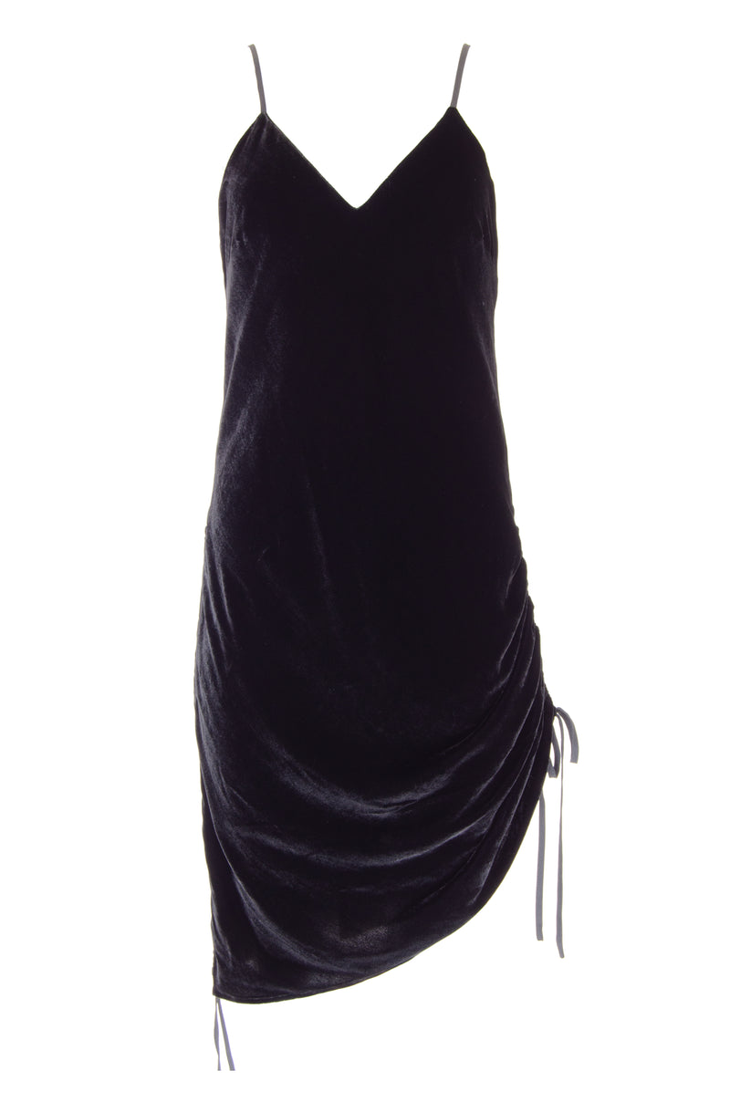 Velvet Ruched Dress