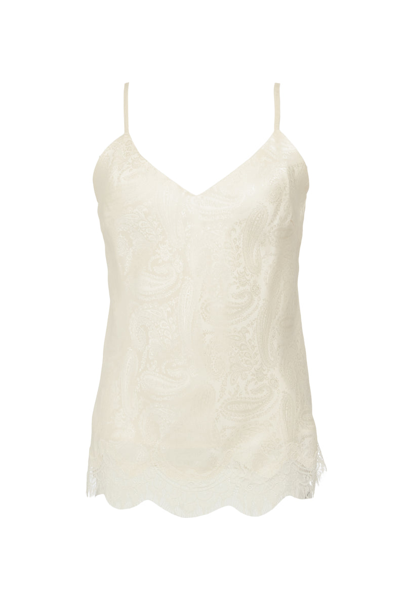The Emma Silk Jacquard Cami in dove.