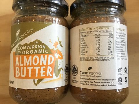 Almond Butter - conversion