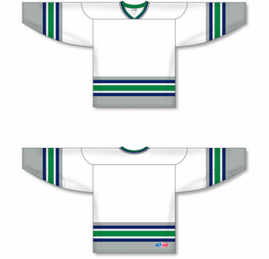 HARTFORD WHITE Sleeve Stripes Pro Blank Hockey Jerseys