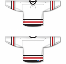 Load image into Gallery viewer, 2016 CHICAGO WINTER CLASSIC WHITE Pro Blank Hockey Jerseys