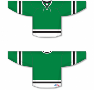 2013 DALLAS KELLY GREEN Sleeve Stripes Blank Hockey Jerseys