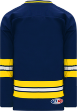 Load image into Gallery viewer, 2011 MICHIGAN NAVY V-neck Pro Blank Hockey Jerseys