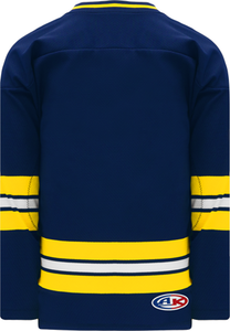 2011 MICHIGAN NAVY V-neck Pro Blank Hockey Jerseys