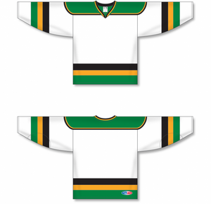 MINNESOTA WHITE WITH BLACK STRIPE Pro Blank Hockey Jerseys