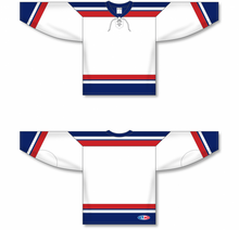 Load image into Gallery viewer, 2005 TEAM USA WHITE Blank Hockey Jerseys