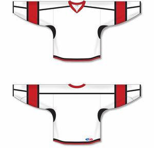 White, Black, Red Durastar Mesh Select Blank Hockey Jerseys