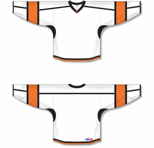 White, Black, Orange Durastar Mesh Select Blank Hockey Jerseys