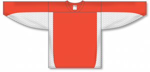 Burnt Orange, White League Hockey Jersey