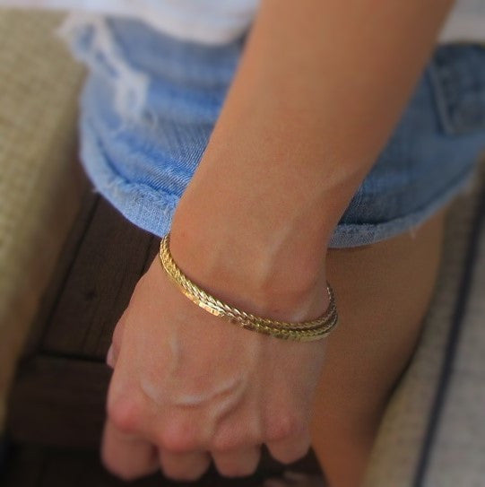 Gold Bangle Bracelet Mystic Moon Shop