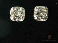 Load image into Gallery viewer, Cushion cut diamond earrings