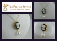 Load image into Gallery viewer, Resetting a Cameo with Baroque Cultured Pearl