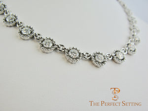 Diamond Eternity Link Necklace 10 ctw side view