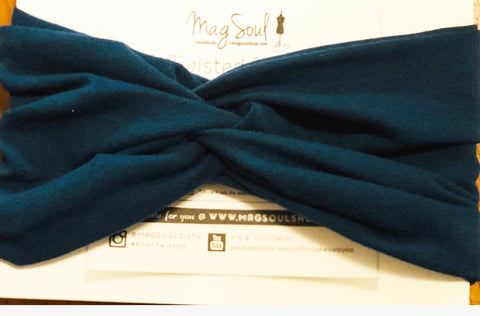 KnotTwisted Headband - Peacock Blue