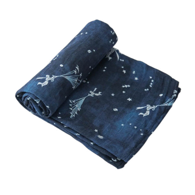 Cotton Muslin Swaddle - Flock of Stars