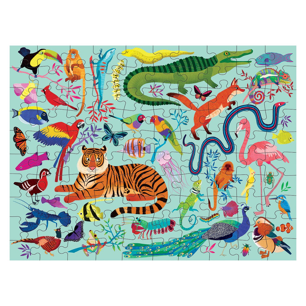 100 Piece Puzzle | Double Sided - Animal Kingdom