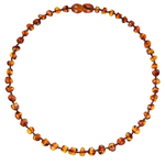 Baby Amber Necklace - Cognac