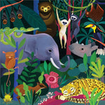 500 Piece Family Puzzle | Glow in the Dark - Jungle Illuminated