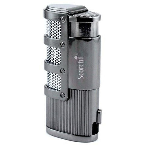 Triple Jet Flame Butane Torch Cigarette Cigar Lighter w/ Punch Cutter Tool