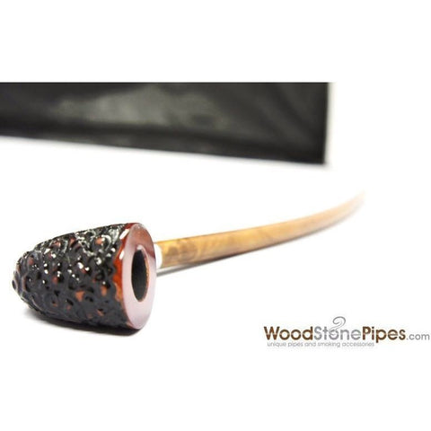 Curved Stem Churchwarden Style Long Tobacco Smoking Pipe - 15