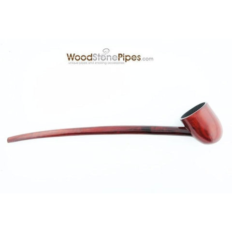 "Deep Bowl Churchwarden / Gandalf Wizard Style Rosewood Smoking Tobacco Pipe - 9"" Long - WoodStonePipes.com   - 2"