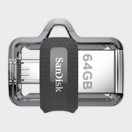 SanDisk Ultra Dual 64GB USB 3.0 OTG Pen Drive-SAN DISK-computerspace