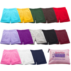 Custom sets of girls under dress shorts at SparkleFarms.com
