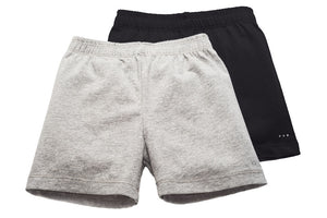 Girls Gray and Black Playground Shorts 2-pack - Cartwheel Ready!