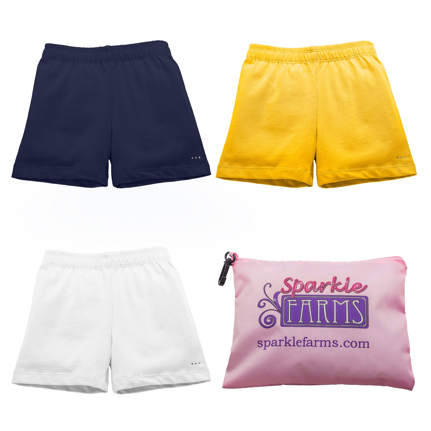 CA University Set - White Navy Golden Yellow - Under Uniform Playground Shorts Set