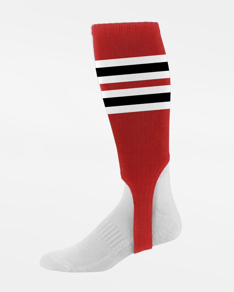 Diamond Pride Striped Stirrup, rot-weiss-schwarz-DIAMOND PRIDE