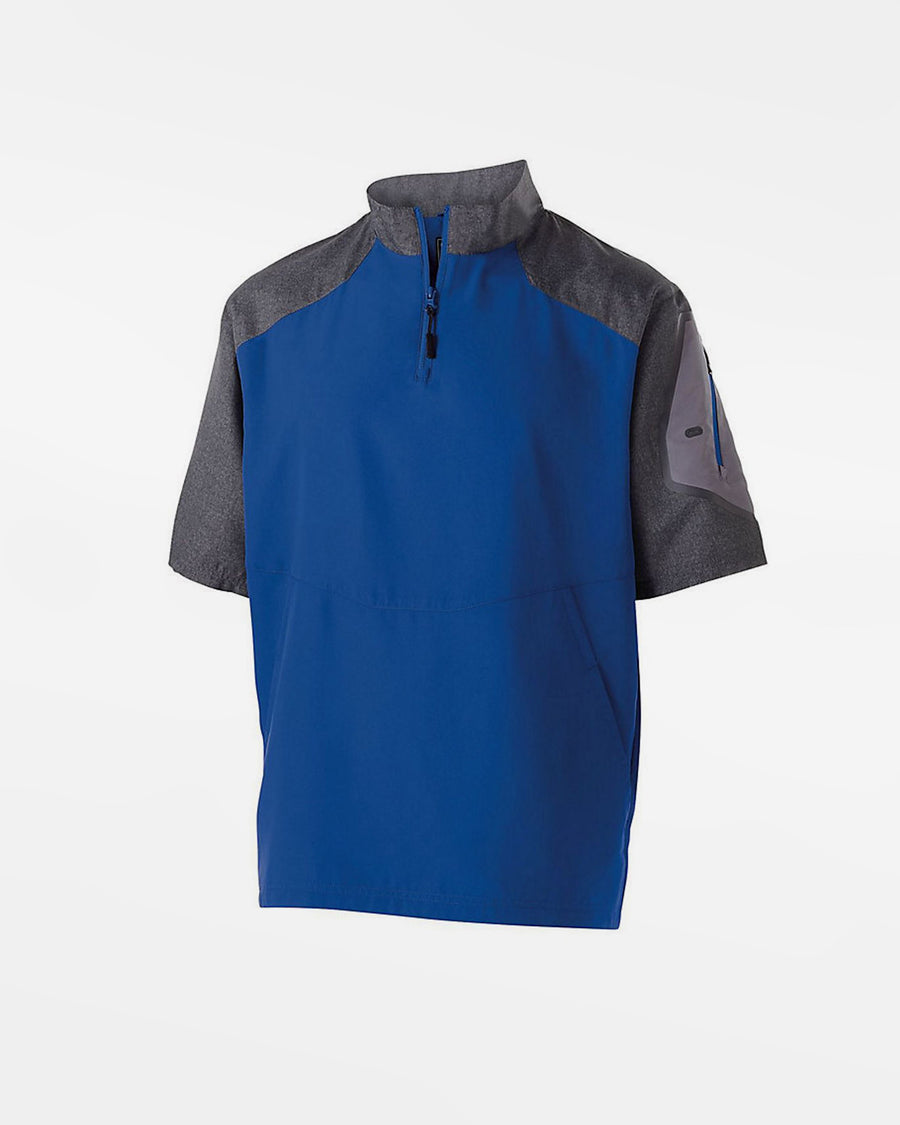Holloway Kids Raider Warmup Pullover, royal blau-grau-DIAMOND PRIDE