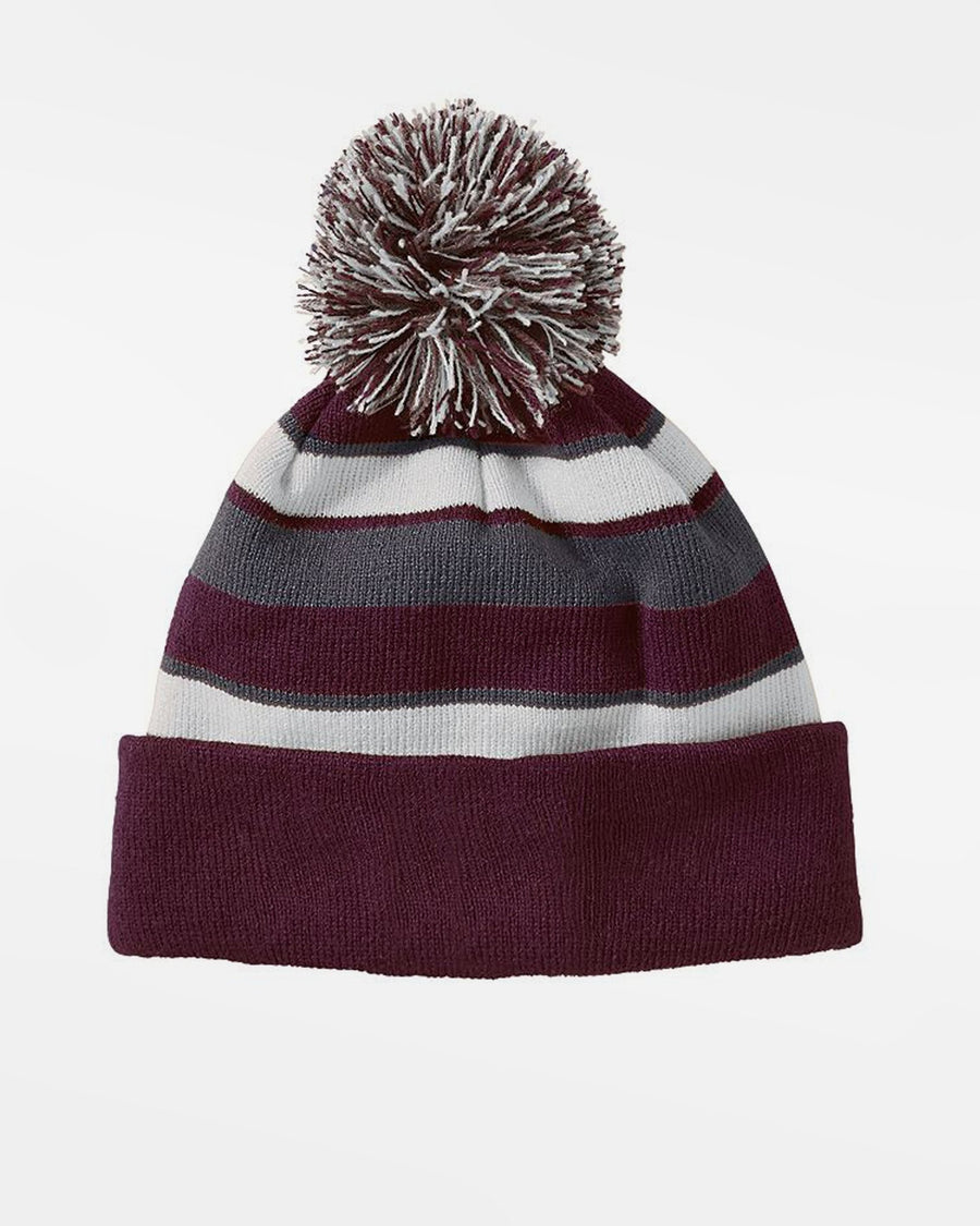 Holloway PomPom-Beanie, maroon-weiss-grau-DIAMOND PRIDE