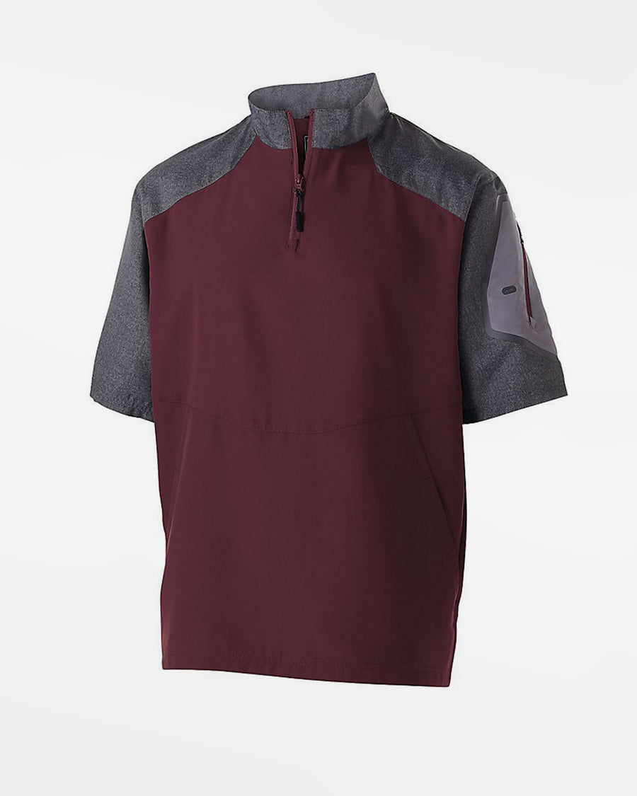 Holloway Raider Warmup Pullover, maroon rot-grau-DIAMOND PRIDE