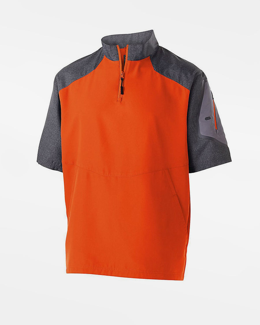 Holloway Raider Warmup Pullover, orange-grau-DIAMOND PRIDE