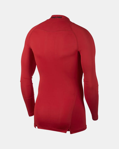 Nike Pro Compression Longsleeve Mock 2018, rot-DIAMOND PRIDE