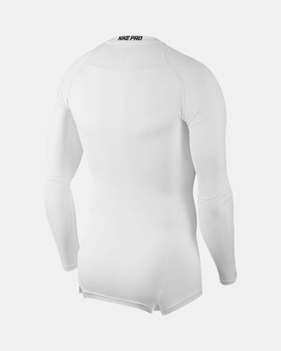 Nike Pro Compression Longsleeve Shirt 2018, weiss-DIAMOND PRIDE