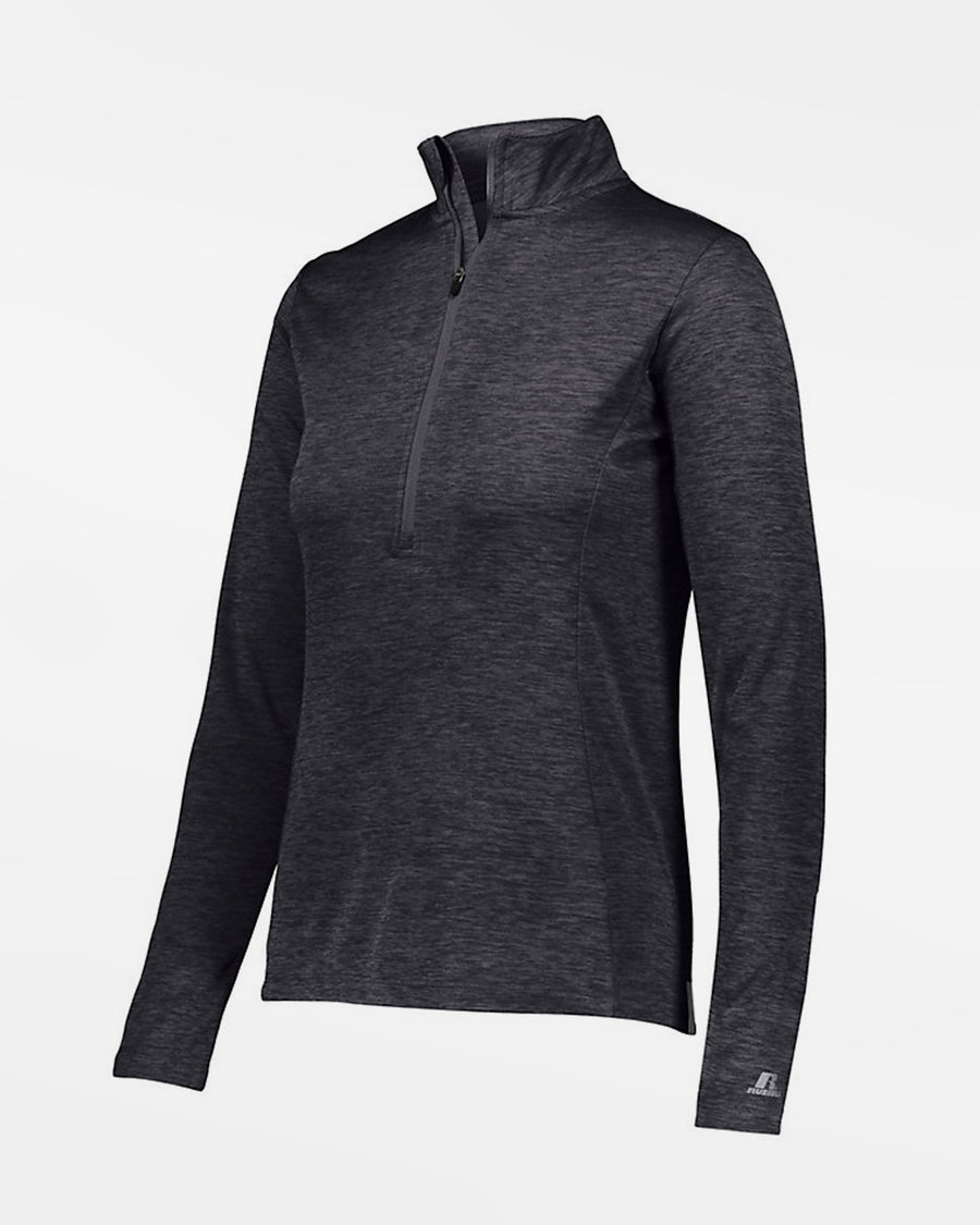 Russell Athletic Dri-Power Ladies Lightweight 1/4-Zip Pullover, heather dunkelgrau-DIAMOND PRIDE