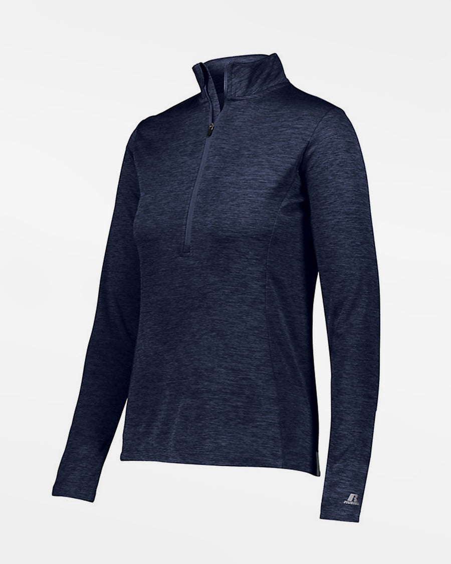 Russell Athletic Dri-Power Ladies Lightweight 1/4-Zip Pullover, heather navy blau-DIAMOND PRIDE