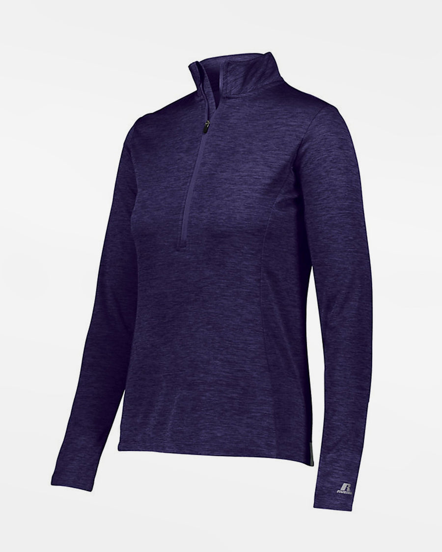 Russell Athletic Dri-Power Ladies Lightweight 1/4-Zip Pullover, heather purple-DIAMOND PRIDE