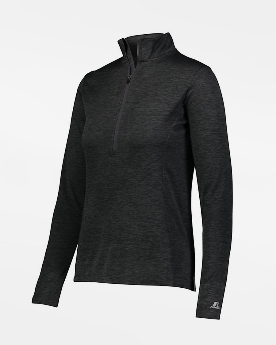 Russell Athletic Dri-Power Ladies Lightweight 1/4-Zip Pullover, heather schwarz-DIAMOND PRIDE