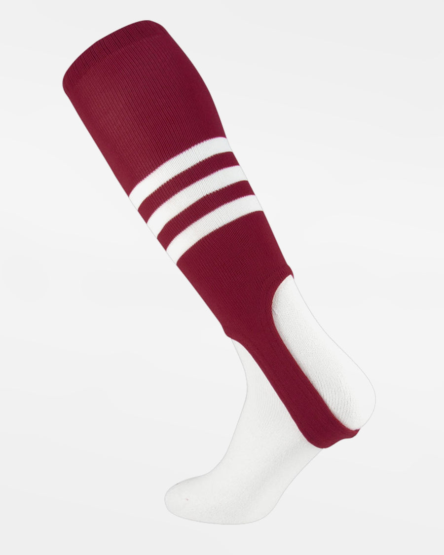 TCK Striped ProStirrup, weinrot-weiss-DIAMOND PRIDE