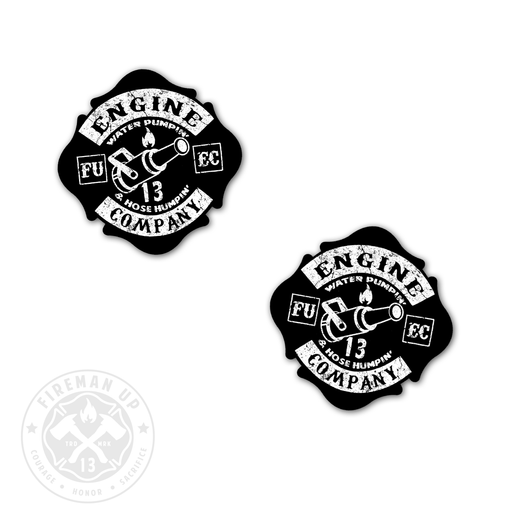 "Engine Company Maltese - 2"" Sticker Pack"