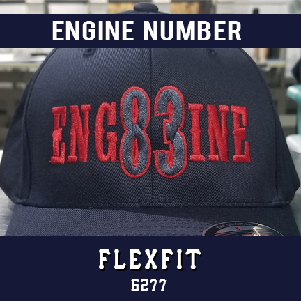 Engine Number Outlined Custom Hat - Flexfit