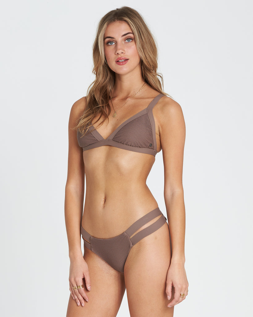 Billabong Women's Meshed Up Isla Bikini Bottom|Coyote