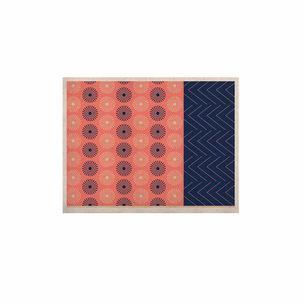 "afe images ""AFE Geometric Abstract"" Blue Coral Abstract Pattern Digital Illustration KESS Naturals Canvas (Frame not Included)"