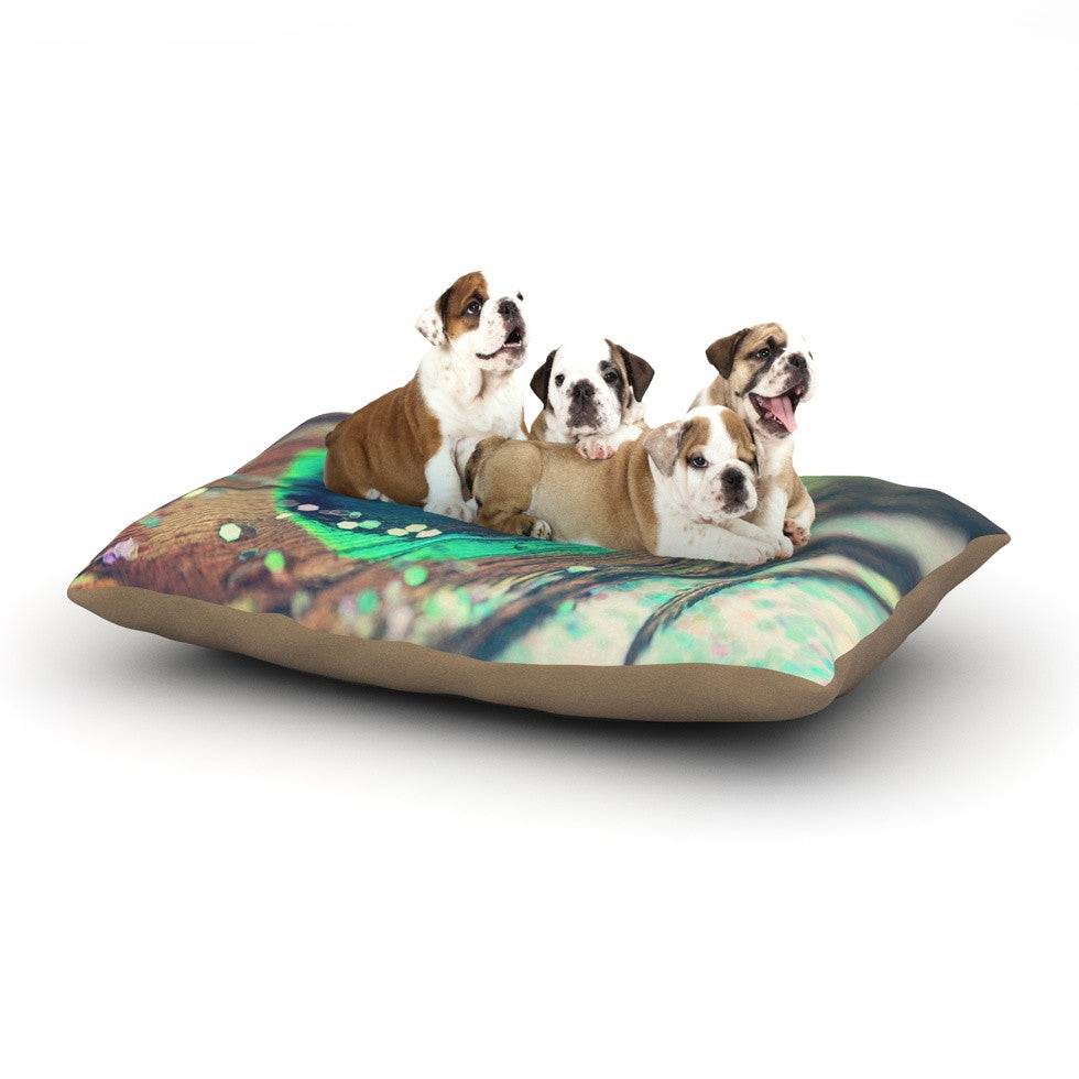 "Beth Engel ""Peacocks Dream"" Dog Bed - KESS InHouse  - 1"