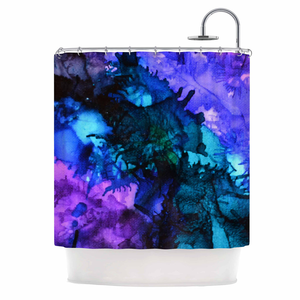 "Claire Day ""Soul Searching"" Blue Purple Shower Curtain - KESS InHouse"