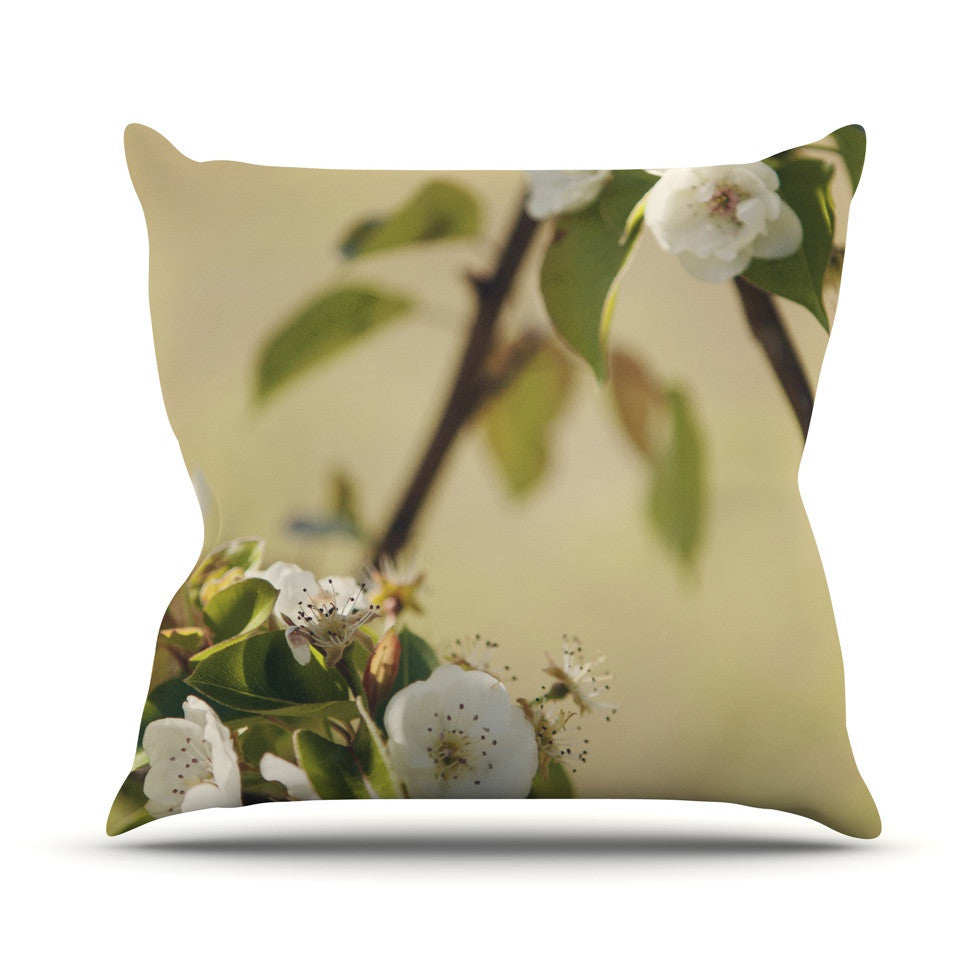 "Catherine McDonald ""Pear Blossom"" Outdoor Throw Pillow - KESS InHouse  - 1"