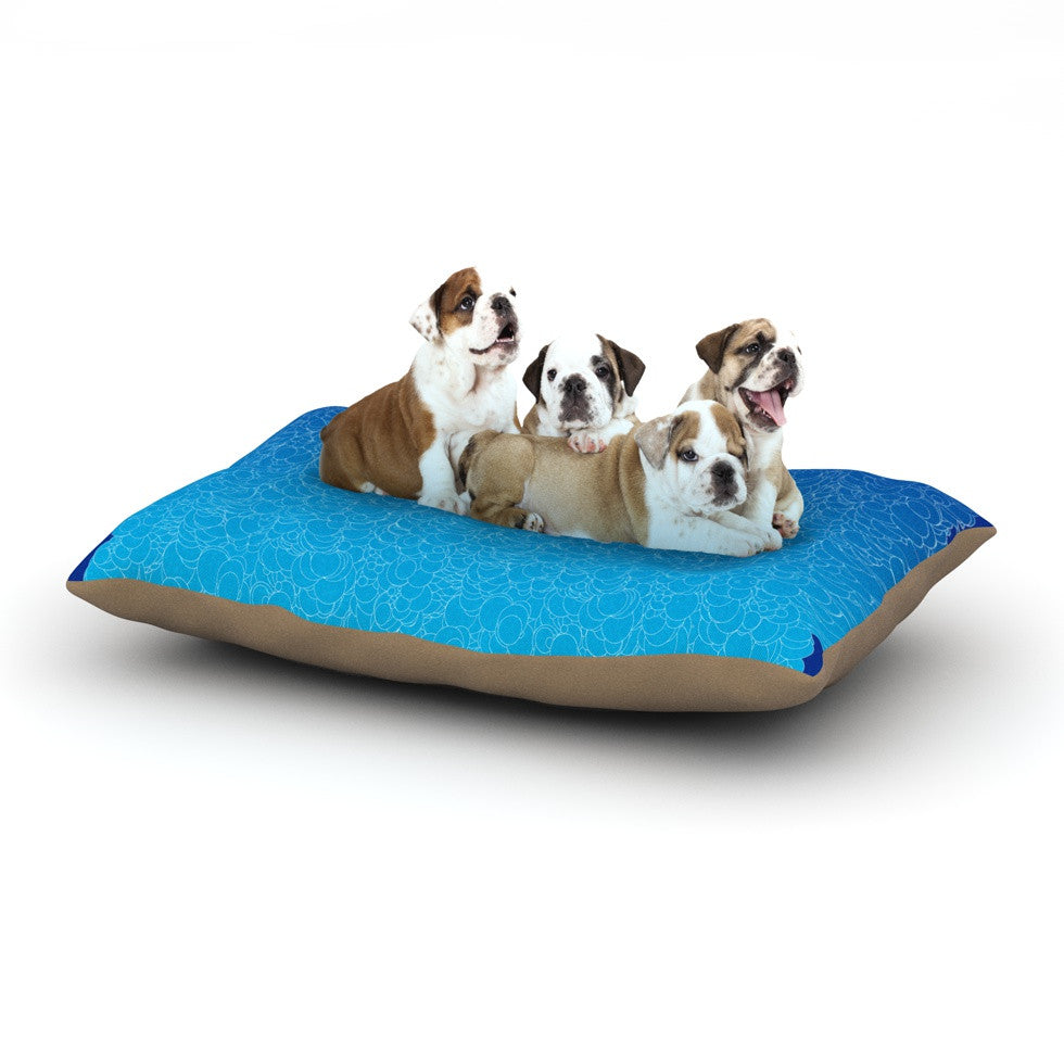 "Frederic Levy-Hadida ""Bubbling Blue"" Dog Bed - KESS InHouse  - 1"