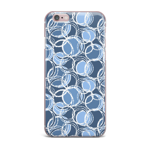 "Julia Grifol ""Simple Circles in Blue"" iPhone Case - KESS InHouse"